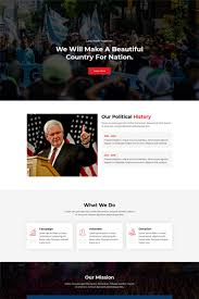 Polixer Political Landing Page Template