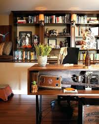 eclectic home office. Eclectic Office Decor Man Cave Home With Collection Incandescent Wall