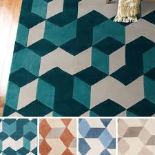 picturesque geometric area rugs at hand tufted beecher contemporary rug 5 x 8 free