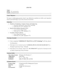 Resume Format For Bpo Jobs For Freshers Resume For Study