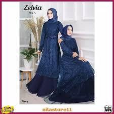 karomah0006- GAMIS PESTA NITA NEW ZELVIA DRESS MUSLIM PESTA NITA TERLARIS  Limited   Shopee Indonesia