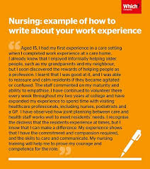 nurse personal statement personal statement advice and example nursing which