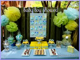 Blue And Green Decor Blue Yellow Baby Shower Pizzazzerie