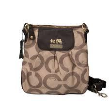 Coach Logo C Monogram Small Khaki Crossbody Bags Outlet Official