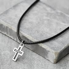 men s cross pendant men s cross necklace men s christ
