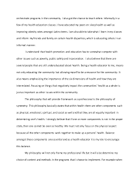philosophy of education essay okl mindsprout co health education philosophy