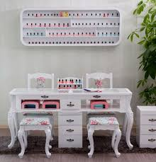 nail salon furniture manicure table with gel lamp