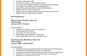 Resumes Cashier Resume Grocery Store Objective No Experience