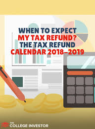 Irs Schedule Refund Chart 2018 When To Expect My Tax Refund The 2018 2019 Refund Calendar