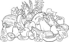 Fruit And Vegetable Coloring Pages For Kids Harvest Fruits