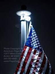 Flag Lights Pole Solar Flagpole Light 530700