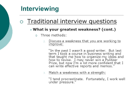 what is your weakness interview question bc2 job hunting interviews interviewing developing an