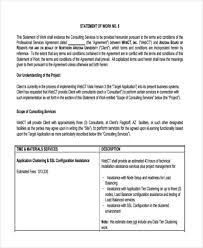 Sample Statement Of Work Template Statment Of Work Under Fontanacountryinn Com