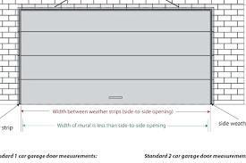 standard double garage door size sizes