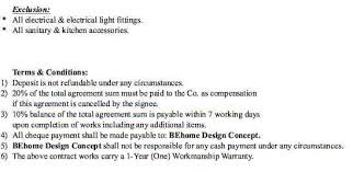 exles of renovation contract terms and conditions t c exle 1 t c exle 2