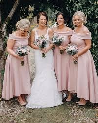 Elegant Bateau Neck Satin High Low Bridesmaid Dresses A Line Wedding Guest Party Maid Of Honor Dresses Bm0386 Wedding Bridesmaid Dresses After Six