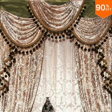 aliexpress com gold purple red grey green blue velvet luxury europe curtain embroidery finished curtain with tulle sheet valance beads curtains from