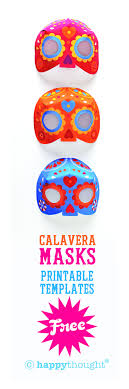 best day of dead ideas day of dead makeup   printable calavera masks from happythought to celebrate day of the dead 7 color ways