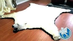fake polar bear rug with head polar bear rug real skin rugs with head fake image fake polar bear rug