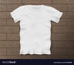 Blank White T Shirt Design White Realistic Male T Shirt With Short Sleeves