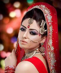 it is often seen around the world that women in asia including indians deshis and stanis wives do lots of makeup on their wedding