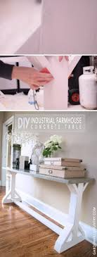 sofa table decor. Milk Painted Industrial Farmhouse Console Table Sofa Decor H