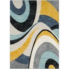mustard area rug shuff charcoal yellow gray