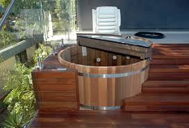 build deck for hot tub here s a hot tub deck built custom for a small round