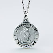 personalized kids pendant necklace guardian angel 14351