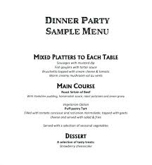 Event Menu Template Classy Dinner Party Menu Templates Free Download Puebladigitalnet