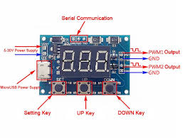 1hz 105khz 2 channel pwm generator pulse frequency duty cycle setting pwm frequency
