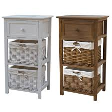 This Bentley Home cosy storage unit, in white or natural wood, is composed  of