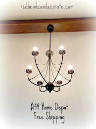 hampton bay chandelier 5 light brushed nickel