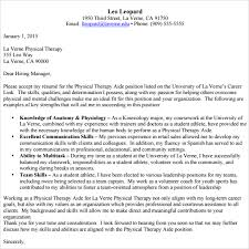 10 Physical Therapist Cover Letters Sample Templates