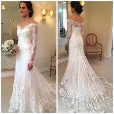 new arrival long sleeves lace mermaid wedding dresses 2017