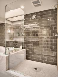 doorless shower with glossy tile shower without door