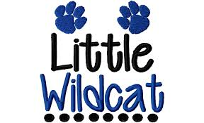 University Logo Embroidery Designs Little Wildcat Paws Machine Embroidery Design 4x4 5x7 6x10