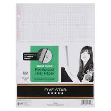 Five Star Graph Paper Notebook Five Star 100ct Graph Ruled Reinforced Filler Paper Bible