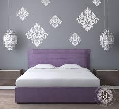 bedroom wall decals ideas damask wallpaper