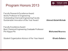 Chemical Engineering Program Texas A&M University at Qatar ...