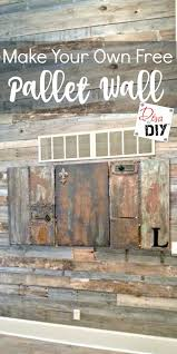 pallet wall using free pallet wood