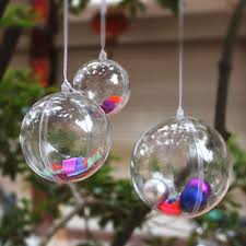 Plastic Ball Ornament Decorating Ideas Pack of 60 Clear DIY Hollow Plastic Fillable Ball Ornament 60mm 2
