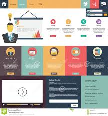 Web Design Flat Design Flat Web Design Elements Buttons Icons Website Template