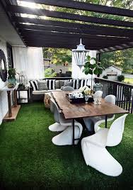 Outdoor Living Room One Room Three Looks A Classy Modern Outdoor Living Room The
