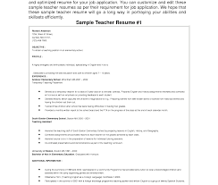Doc School Teacher Resume Format Teachers For Resumes Templates Free ...