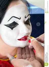 Girl Clown Face Designs Face Paint For Pierrot Clown Stock Image Image Of Carnival