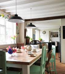 Eclectic Kitchen Trendy Eclectic Kitchen Ideas With Wooden Table And Wooden Chairs