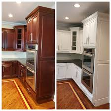 tips for painting cherry cabinets white