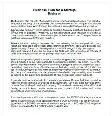 Startup Business Plan Template Pdf Cycling Studio