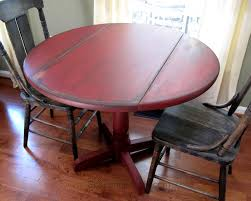 little red drop leaf table scavenger chic